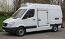 12 plate, Mercedes Sprinter 316 CDi, 3.5t GVW, MWB, ATP, 3 seats, 3 pallet capacity, 2.2L diesel engine, MOT  26/07/2017, 125,000, Hubbard 460 AEL with slimline evaporator, single phase, chill or freeze to -25C or heat to +25C, 12V trickle-charger wired to standby, barn doors, Plug side door, 180 degree opening, magnetic door stay, chequer-plate floor, air-conditioning, Transcan temperature recorder.