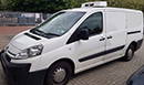 60 plate Citroen Dispatch, MWB, 60,000 miles, GAH fridge unit, a few minor bumps on bodywork and needs one new tyre, nearside side door.