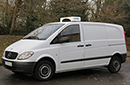 59 plate Mercedes Vito 109 Compact, 2.8t GVW, Hubbard 360 AM, no electric standby, 117,000 miles, MOT 18/062019, chill to -1C, barn doors and side door both sides, non-slip floor.