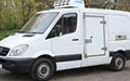12 plate, Mercedes Sprinter 316 CDi, 3.5t GVW, SWB, 2.2l turbo diesel, 3 seats, Hubbard 460 AEL unit, chill or freeze to -25C, Heat to +25C, single phase standby, 12v trickle-charger wired to electric standby, barn doors, plug nearside side door with 180 degree opening, magnetic door stay, chequer plate protection on floor & wheel arches, Transcan temperature recorder.