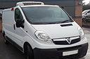 13 plate Vauxhall Vivaro 2 0CDTi, 2,900kg GVW, LWB, 113bhp, MOT 01/2018, 142,00 miles, Thermo King V200 unit, 3phase standby, barn doors, nearside side door.