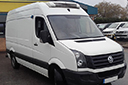 13 plate, Volkswagen Crafter 2.0TDi, MWB, Euro 5, 3 seats, 108bhp, 137,104 - 203,945 miles, MOT 06 2018, interior  length 11ft, load capacity: fridge unit, barn doors, nearside side door, 1412, anti-lock brakes (ABS), driver airbag, ESP,  PAS, AM/FM stereo, non-slip floor. Choice of 2.