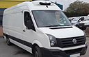 14 plate, Volkswagen Crafter 2.0TDi, LWB, Euro 5, 3 seats, 108bhp, 125,212 miles, MOT 06 2018, interior length 11ft, load capacity: fridge unit, barn doors, nearside side door, 1412, anti-lock brakes (ABS), driver airbag, ESP, PAS, AM/FM stereo, non-slip floor.