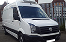 Volkswagen Crafter 2.0 TDi, 116,000 miles, MOT 09 2018, one owner from new, Thermo King V300-50, +25 -25 Deg C, single phase standby,  twin evaporators, Transcan 2 temperature recorder, 4 probes to rear, door switches, 2x drain holes, 2x LED Lights, 2x rows loadlock , chequer plate To floor/wheel boxes.