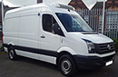 Volkswagen Crafter 2.0 TDi, MWB, 110,000 miles, MOT 18 07 2018, one owner from new, Thermo King V300-50, +25 -25 Deg C, single phase standby, twin evaporators, Transcan 2 temperature recorder, 4 probes to rear, door switches, 2x drain holes, 2x LED Lights, 2x rows loadlock , chequer plate floor/wheel boxes. barn doors, nearside side door.