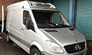 10 plate, Mercedes Sprinter,  MWB, 152,000 miles, Thermo King unit, single phase standby, twin evaporators, mattress or fixed Bulkhead can be added if required at additional cost, Barn doors, nearside side door.