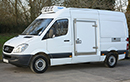 10 plate, Mercedes Sprinter 316 CDi, MWB, 3.5t GVW, ATP cert, 201,000 miles, MOT 02/10/2018, 3 pallet capacity, 2.2L turbo diesel, FSH. 3 seats, Hubbard 460 AEL unit, slimline evaporator, chill or freeze to -25C, Heat to +25C, single phase standby, 12V trickle-charger, barn doors, Plug nearside sidedoor, 180 degree opening, magnetic door stay, chequerplate protection on floor & wheelarches, Transcan temperature recorder.