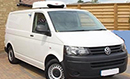 63 plate, Volkswagen Transporter T30 TDI 102 Startline, SWB, 3 seats, FSH, CD Player, power steering, electric mirrors, remote central locking, 102bhp, low roof, GAH unit, single phase standby, chill/freeze, barn doors, nearside side door, non-slip floor.