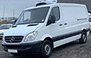 12 plate Mercedes Sprinter 313, MWB, 2.1L 3 seats, cruise control, one owner from new, FSH, 6 gear, electric windows, 129bhp, 148,000 miles, MOT August 2019, Hubbard unit, single phase standby, barn doors nearside side door, non-slip floor.