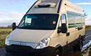 13 plate, Iveco Daily 70C18, LWB, meat railer, 334,572 km, 2 x T-bar meat rails, some hooks, GAH Rapier unit, single phase standby, non-slip floor, near-side side door, rear barn doors. MOT due 30.11.19