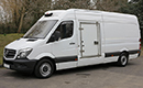 65 plate, Mercedes Sprinter 313, 3.5t GVW LWB, 3 seats, 4 pallet capacity, 2.2 litre turbo diesel, Air-con, 92,000 MOT 08/07/2019, GAH Multi-Temp unit, Heat to +25C or chill or freeze to -25CSingle phase standby, barn doors, plug nearside side door with wide opening, 