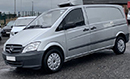 63 plate, Mercedes Vito 116, 2.1L 3 seats, rare 163bhp, electric windows 115,00 miles, MOT December 2019, one owner from new, FSH,  6 gears, trip computer, Seven Telematics Sentinel Temperature recorder, single phase standby, front & rear parking sensors, cruise control,  bluetooth, rear tailgate, near-side side door, non-slip floor.