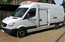 61 plate, Mercedes Sprinter 316 CDi, 3.5t GVW, 3 seats, ATP FRC Certificate valid to May 2022, LEZ, Euro5, 259,962 miles, MOT Oct 2019, body conversion by GRP Leeds, Hubbard 460 AEL fridge unit, single phase standby, heat, chill and freeze +25C to -25C, R404A System, Transcan 2 temperature recorder with printer, barn doors, nearside side door, checker plate floor protection, four GKN or five Euro pallet capacity, non-slip floor.