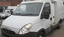 62 plate Iveco Daily 35S13, MWB, high roof, 3 seats,   6 gears, 90,700 miles , MOT February 2020, Cool Freeze body, barn doors, side slab door, chequer-plate floor, Carrier direct drive unit, single phase standby.